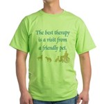 Best Therapy Is A Visit Green T-Shirt