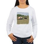 Dog Meets Sheep Women's Long Sleeve T-Shirt