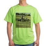 Herding Dog Art Green T-Shirt