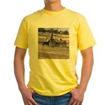 Herding Dog Art Yellow T-Shirt
