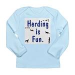 Herding is Fun Long Sleeve Infant T-Shirt