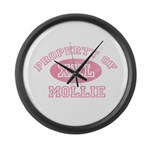 Property of Mollie Large Wall Clock