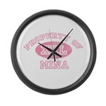 Property of Mina Large Wall Clock