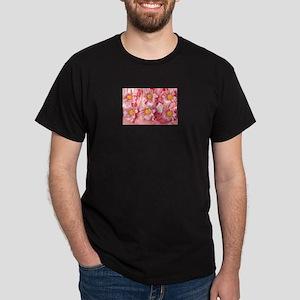 Pink Flowers210 Black T-Shirt