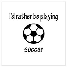 Playing Soccer Poster