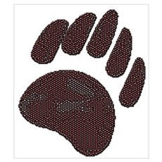 BROWN DIMPLED BEAR PAW Poster