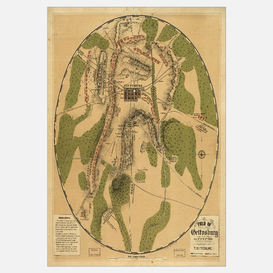 Gettysburg 1863 Civil War Map