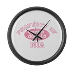 Property of Mia Large Wall Clock