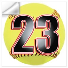 23-Softball Wall Decal