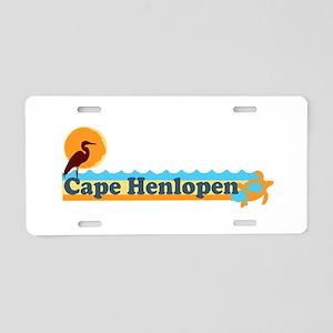 Cape Henlopen DE - Horseshoe Design Aluminum Licen