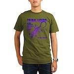 lizard Organic Men's T-Shirt (dark)