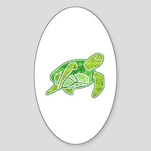 Sea Turtle 2 Sticker (Oval)