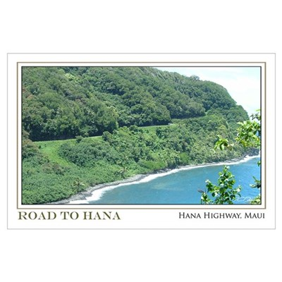 Road to Hana Curves (11x17) Poster