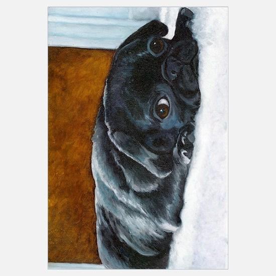 Resting Black Pug Puppy