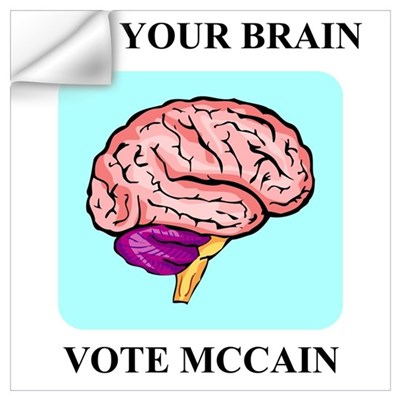 Use Your Brain, Vote McCain Wall Decal