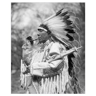 Indian Chief Whirlwind Soldier, 1925 Poster