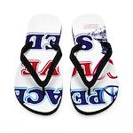 Peace-Love-Sled Flip Flops