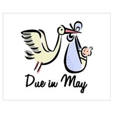 Due In May Stork Poster