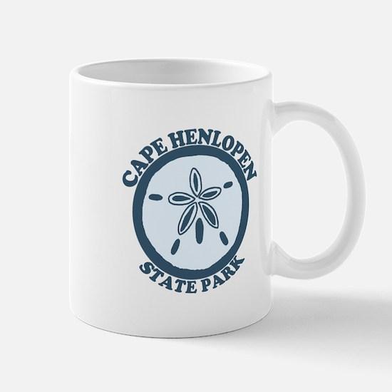 Cape Henlopen DE - Sand Dollar Design Mug