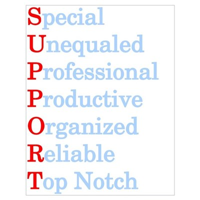 Definition of Support Poster