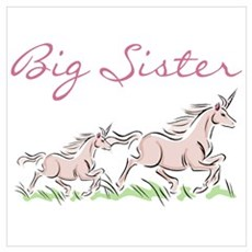 Unicorn Big Sister Poster