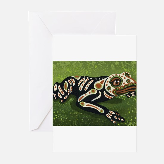 Day of the Dead Frog Greeting Cards