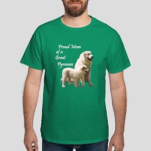 Great Pyrenees Dark T-Shirt: Proud Mom...