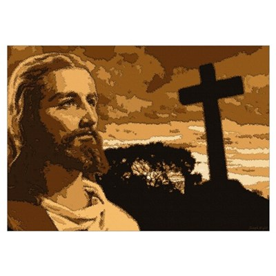 Jesus and Cross Poster