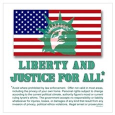 Liberty - Legal Disclaimer Poster