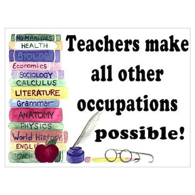 """""""Teacher Occupations"""" Poster"""