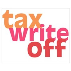 Tax Write Off Canvas Art