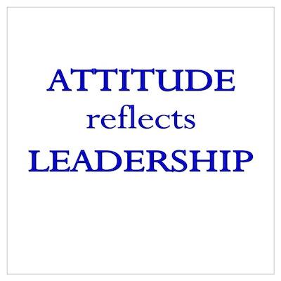 Leadership Attitude Gear Poster