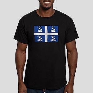 Martinique Flag Men's Fitted T-Shirt (dark)