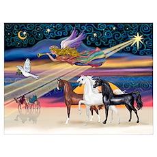 XmsStar/3 Horses (Ar) Poster