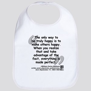 Williams Happy Quote Bib