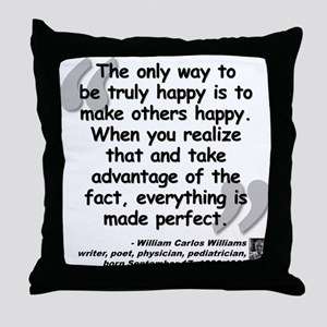 Williams Happy Quote Throw Pillow