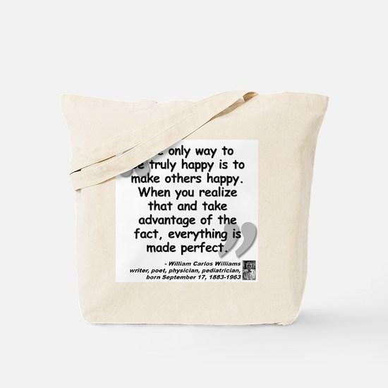 Williams Happy Quote Tote Bag