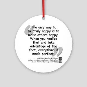 Williams Happy Quote Ornament (Round)