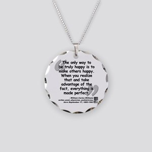 Williams Happy Quote Necklace Circle Charm