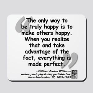 Williams Happy Quote Mousepad