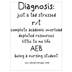 Tad Stressed Student Nurse Poster