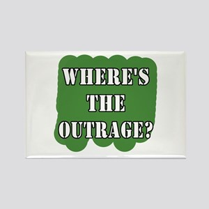 Where's the Outrage? Rectangle Magnet