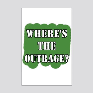 Where's the Outrage? Mini Poster Print