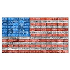 Michigan License Plate Flag Poster