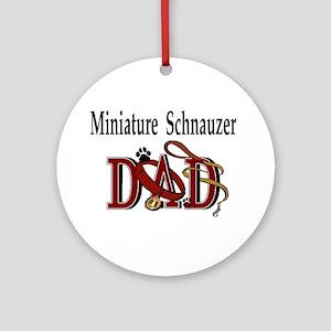 Miniature Schnauzer Dad Ornament (Round)