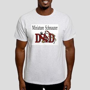 Miniature Schnauzer Dad Ash Grey T-Shirt
