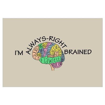 Always-Right Brained Framed Print