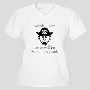 Pirate - Walking the Plank Women's Plus Size V-Nec