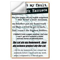 Homework Excuses Wall Decal