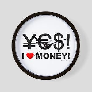 Yes! I love money! Wall Clock